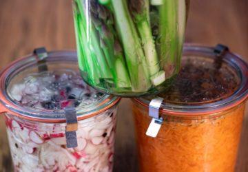 bocaux légumes lacto-fermentés