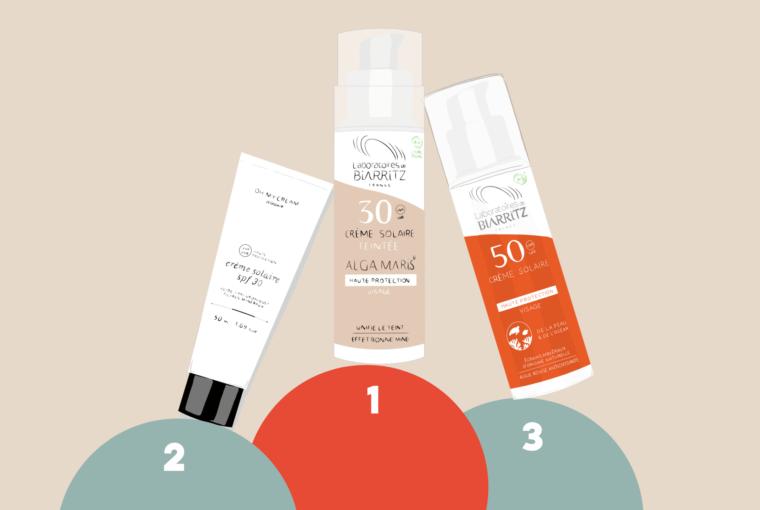 creme solaire acne